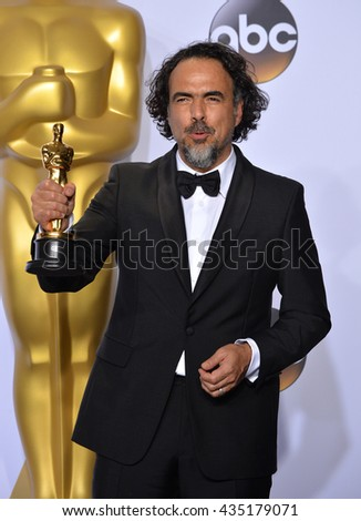 LOS ANGELES, CA - FEBRUARY 28, 2016: Alejandro G. Inarritu at the 88th Academy Awards at the Dolby Theatre, Hollywood.