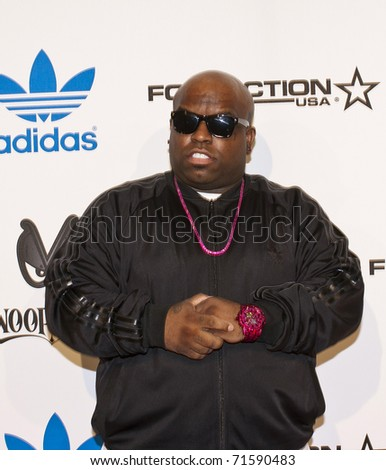 LOS ANGELES, CA - FEBRUARY 19: Cee Lo Green attends the Adidas and Snoop Dogg Co-Host ASW Party at The Standard Hotel on February 19, 2011 in Los Angeles, California - stock photo