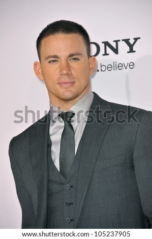 """LOS ANGELES, CA - FEBRUARY 6, 2012: Channing Tatum at the world premiere of his new movie """"The Vow"""" at Grauman's Chinese Theatre, Hollywood. February 6, 2012  Los Angeles, CA - stock photo"""