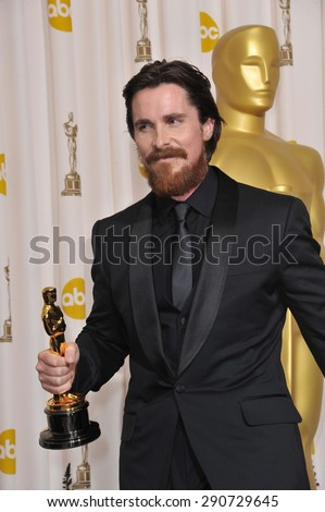 LOS ANGELES, CA - FEBRUARY 27, 2011: Christian Bale at the 83rd Academy Awards at the Kodak Theatre, Hollywood.