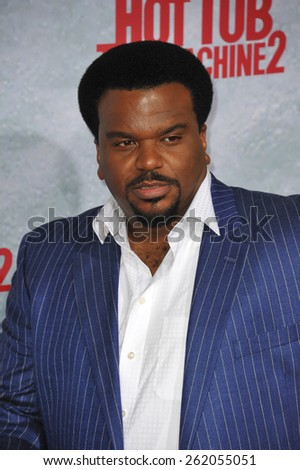 "LOS ANGELES, CA - FEBRUARY 18, 2015: Craig Robinson at the Los Angeles premiere of his movie ""Hot Tub Time Machine 2"" at the Regency Village Theatre, Westwood.  - stock photo"