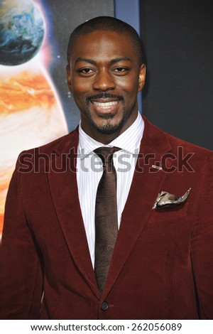 """LOS ANGELES, CA - FEBRUARY 2, 2015: David Ajala at the Los Angeles premiere of his movie """"Jupiter Ascending"""" at the TCL Chinese Theatre, Hollywood.  - stock photo"""