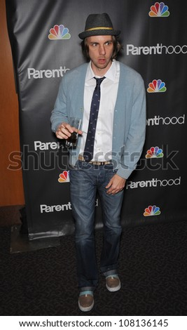 "LOS ANGELES, CA - FEBRUARY 22, 2010: Dax Shepard at the premiere for his new NBC TV series ""Parenthood"" at the Directors Guild of America."