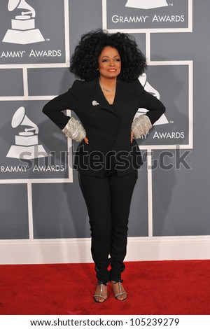 LOS ANGELES, CA - FEBRUARY 12, 2012: Diana Ross at the 54th Annual Grammy Awards at the Staples Centre, Los Angeles. February 12, 2012  Los Angeles, CA