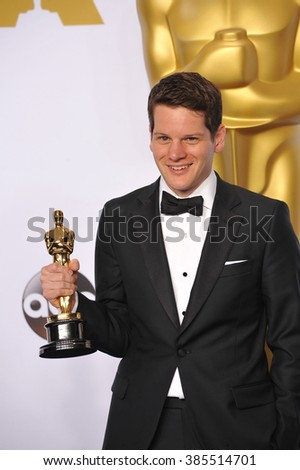 LOS ANGELES, CA - FEBRUARY 22, 2015: Graham Moore at the 87th Annual Academy Awards at the Dolby Theatre, Hollywood.
