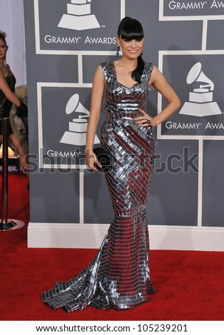 LOS ANGELES, CA - FEBRUARY 12, 2012: Jessie J at the 54th Annual Grammy Awards at the Staples Centre, Los Angeles. February 12, 2012  Los Angeles, CA - stock photo
