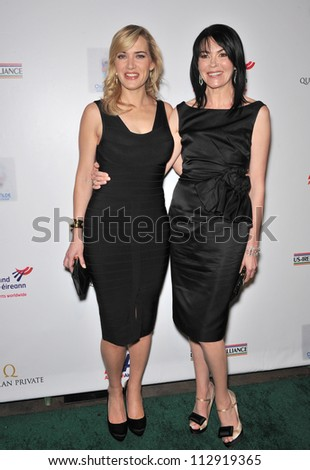 LOS ANGELES, CA - FEBRUARY 19, 2009: Kate Winslet & Hylda Queally at the US-Ireland Alliance Oscar Wilde Gala at the Ebell Club, Los Angeles.