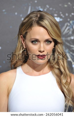 """LOS ANGELES, CA - FEBRUARY 2, 2015: Katia Winter at the Los Angeles premiere of """"Jupiter Ascending"""" at the TCL Chinese Theatre, Hollywood.  - stock photo"""
