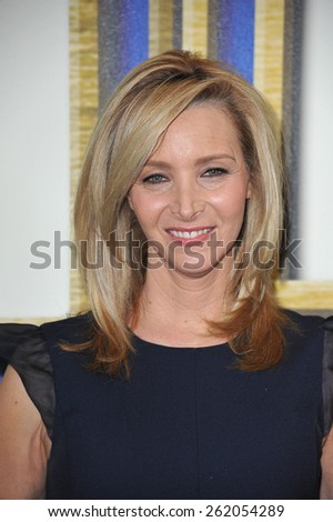 LOS ANGELES, CA - FEBRUARY 14, 2015: Lisa Kudrow at the 2015 Writers Guild Awards at the Hyatt Regency Century Plaza Hotel.  - stock photo
