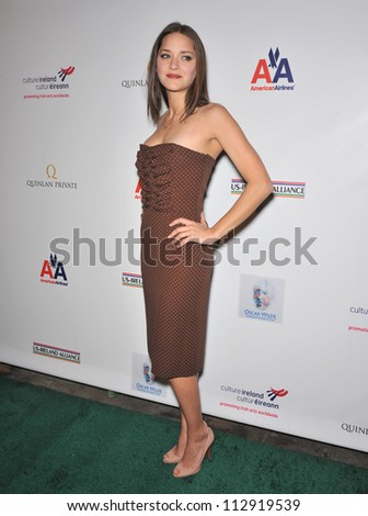 LOS ANGELES, CA - FEBRUARY 19, 2009: Marion Cotillard at the US-Ireland Alliance Oscar Wilde Gala at the Ebell Club, Los Angeles. - stock photo