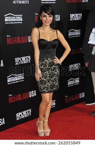 """LOS ANGELES, CA - FEBRUARY 9, 2015: Martha Higareda at the world premiere of her movie """"McFarland USA"""" at the El Capitan Theatre, Hollywood. - stock photo"""