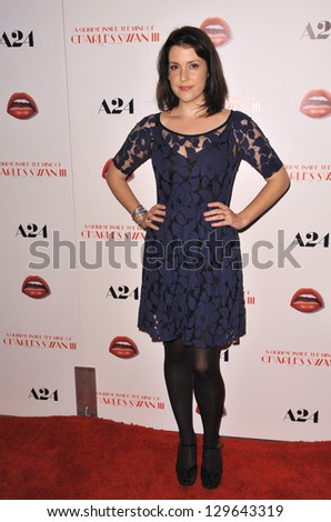 "LOS ANGELES, CA - FEBRUARY 4, 2013: Melanie Lynskey at the Los Angeles premiere of ""A Glimpse Inside the Mind of Charles Swan III"" at the Arclight Theatre, Hollywood."