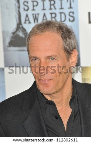 LOS ANGELES, CA - FEBRUARY 21, 2009: Michael Bolton at the Film Independent Spirit Awards on the beach at Santa Monica - stock photo