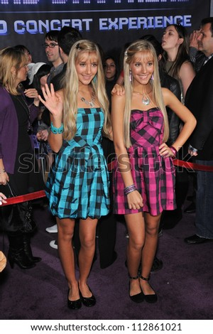 """LOS ANGELES, CA - FEBRUARY 24, 2009: Miley Rosso & Becky Rosso at the world premiere of """"Jonas Brothers: The 3D Concert Experience"""" at the El Capitan Theatre, Hollywood. - stock photo"""