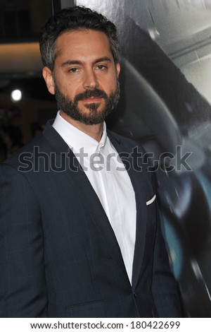 "LOS ANGELES, CA - FEBRUARY 24, 2014: Omar Metwally at the world premiere of his movie ""Non-Stop"" at the Regency Village Theatre, Westwood."