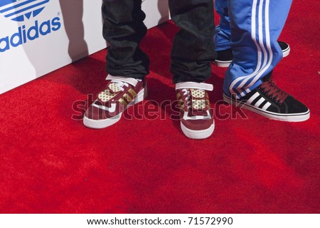 LOS ANGELES, CA - FEBRUARY 19: Rap group Kendre attends the Adidas and Snoop Dogg Co-Host ASW Party at The Standard Hotel on February 19, 2011 in Los Angeles, California - stock photo