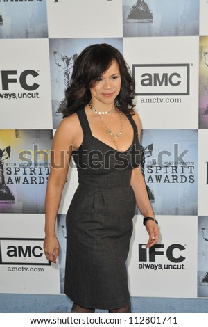 LOS ANGELES, CA - FEBRUARY 21, 2009: Rosie Perez at the Film Independent Spirit Awards on the beach at Santa Monica