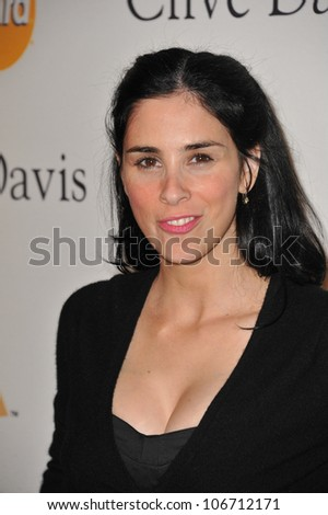 LOS ANGELES, CA - FEBRUARY 12, 2011: Sarah Silverman at the 2011 Clive Davis pre-Grammy party at the Beverly Hilton Hotel. February 12, 2011  Beverly Hills, CA