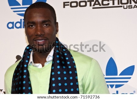 LOS ANGELES, CA - FEBRUARY 19: Serge Ibaka attends the Adidas and Snoop Dogg Co-Host ASW Party at The Standard Hotel on February 19, 2011 in Los Angeles, California - stock photo