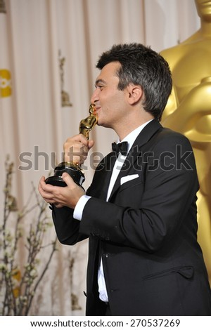 LOS ANGELES, CA - FEBRUARY 26, 2012: The Artist producer Thomas Langmann at the 82nd Academy Awards at the Hollywood & Highland Theatre, Hollywood.
