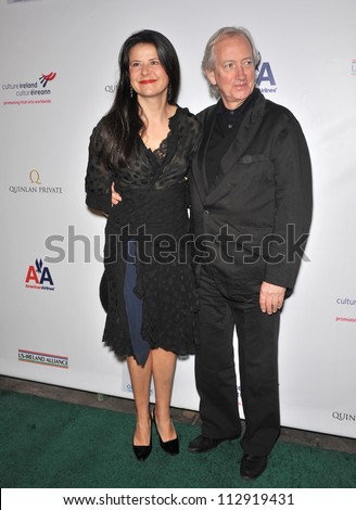 LOS ANGELES, CA - FEBRUARY 19, 2009: Tracey Ullman & Allan McKeown at the US-Ireland Alliance Oscar Wilde Gala at the Ebell Club, Los Angeles. - stock photo