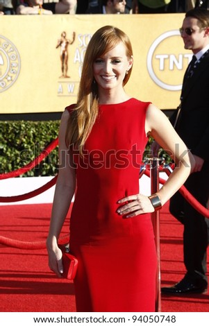 LOS ANGELES, CA - JAN 29: Ahna O'Reilly at the 18th annual Screen Actor Guild Awards at the Shrine Auditorium on January 29, 2012 in Los Angeles, California - stock photo