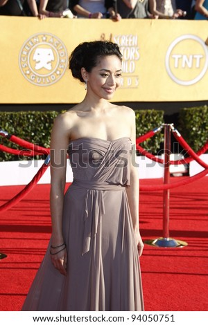 LOS ANGELES, CA - JAN 29: Aimee Garcia at the 18th annual Screen Actor Guild Awards at the Shrine Auditorium on January 29, 2012 in Los Angeles, California - stock photo