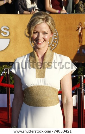 LOS ANGELES, CA - JAN 29: Gretchen Mol at the 18th annual Screen Actor Guild Awards at the Shrine Auditorium on January 29, 2012 in Los Angeles, California - stock photo