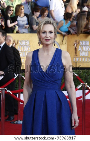 LOS ANGELES, CA - JAN 29: Jane Lynch at the 18th annual Screen Actor Guild Awards at the Shrine Auditorium on January 29, 2012 in Los Angeles, California - stock photo