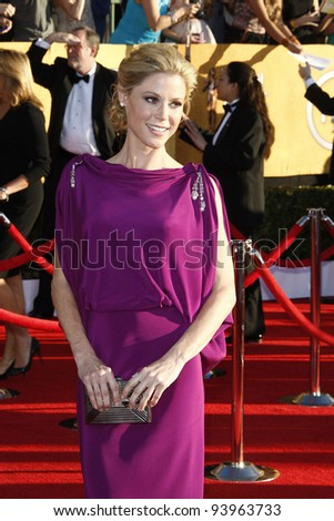 LOS ANGELES, CA - JAN 29: Julie Bowen at the 18th annual Screen Actor Guild Awards at the Shrine Auditorium on January 29, 2012 in Los Angeles, California - stock photo