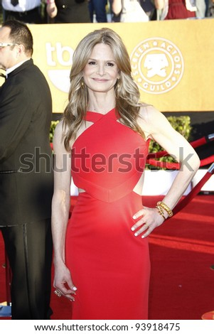 LOS ANGELES, CA - JAN 29: Kyra Sedgwick at the 18th annual Screen Actor Guild Awards at the Shrine Auditorium on January 29, 2012 in Los Angeles, California - stock photo