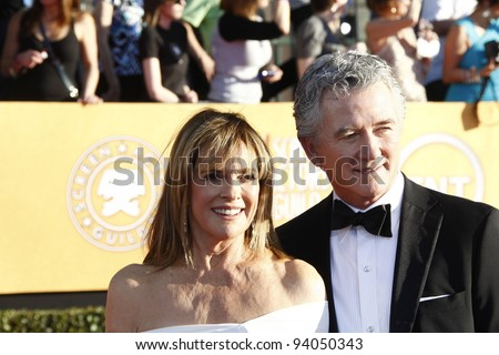 LOS ANGELES, CA - JAN 29: Linda Gray; Patrick Duffy at the 18th annual Screen Actor Guild Awards at theShrine Auditorium on January 29, 2012 in Los Angeles, California - stock photo