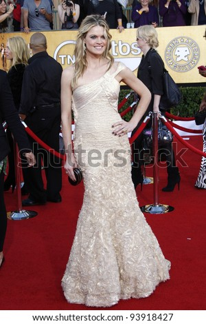 LOS ANGELES, CA - JAN 29: Missi Pyle at the 18th annual Screen Actor Guild Awards at the Shrine Auditorium on January 29, 2012 in Los Angeles, California - stock photo