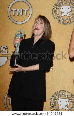 LOS ANGELES, CA - JAN 29: Sissy Spacek in the press room at the 18th annual Screen Actor Guild Awards at the Shrine Auditorium on January 29, 2012 in Los Angeles, California - stock photo