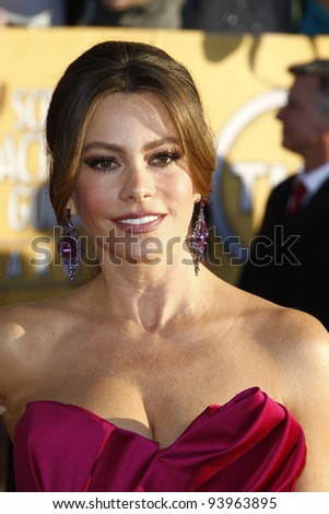 LOS ANGELES, CA - JAN 29: Sofia Vergara at the 18th annual Screen Actor Guild Awards at the Shrine Auditorium on January 29, 2012 in Los Angeles, California - stock photo