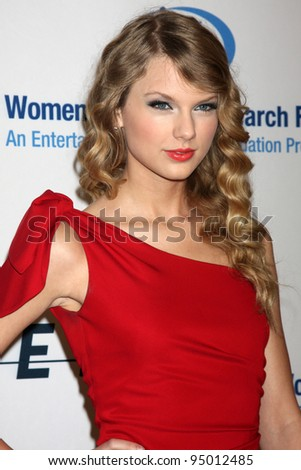 "LOS ANGELES, CA - JAN 27: Taylor Swift at the ""An Unforgettable Evening"" benefiting EIF's Women's Cancer Research Fund on January 27, 2010 in Los Angeles, California - stock photo"