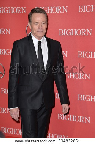 LOS ANGELES, CA - JANUARY 2, 2016: Actor Bryan Cranston at the 2016 Palm Springs International Film Festival Awards Gala
