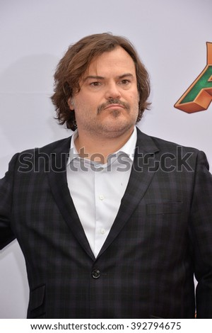 LOS ANGELES, CA - JANUARY 16, 2016: Actor Jack Black at the world premiere of Kung Fu Panda 3 at the TCL Chinese Theatre, Hollywood. - stock photo