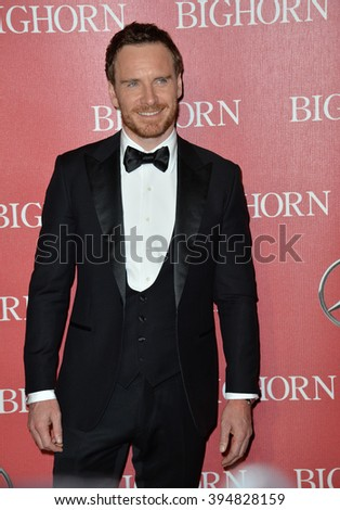 LOS ANGELES, CA - JANUARY 2, 2016: Actor Michael Fassbender at the 2016 Palm Springs International Film Festival Awards Gala