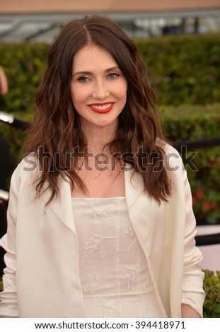 LOS ANGELES, CA - JANUARY 30, 2016: Actress Carice Van Houten at the 22nd Annual Screen Actors Guild Awards at the Shrine Auditorium - stock photo