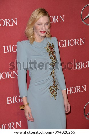 LOS ANGELES, CA - JANUARY 2, 2016: Actress Cate Blanchett at the 2016 Palm Springs International Film Festival Awards Gala - stock photo