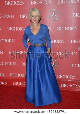LOS ANGELES, CA - JANUARY 2, 2016: Actress Dame Helen Mirren at the 2016 Palm Springs International Film Festival Awards Gala - stock photo