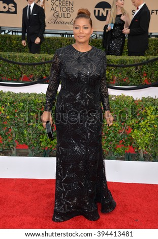 LOS ANGELES, CA - JANUARY 30, 2016: Actress Queen Latifah at the 22nd Annual Screen Actors Guild Awards at the Shrine Auditorium - stock photo