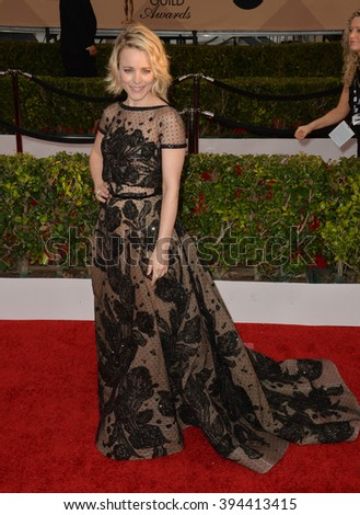 LOS ANGELES, CA - JANUARY 30, 2016: Actress Rachel McAdams at the 22nd Annual Screen Actors Guild Awards at the Shrine Auditorium - stock photo