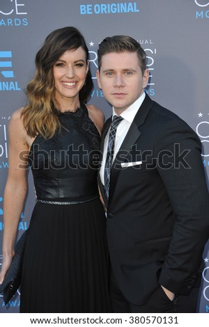 LOS ANGELES, CA - JANUARY 15, 2015: Allen Leech & girlfriend Charlie Webster at the 20th Annual Critics' Choice Movie Awards at the Hollywood Palladium.