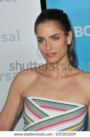 LOS ANGELES, CA - JANUARY 6, 2012: Amanda Peet, star of Bent, at the NBC Universal Winter 2012 TCA party at The Athenaeum in Pasadena. January 6, 2012  Los Angeles, CA