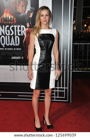 "LOS ANGELES, CA - JANUARY 7, 2013: Amber Chylders at the world premiere of her movie ""Gangster Squad"" at Grauman's Chinese Theatre, Hollywood. - stock photo"