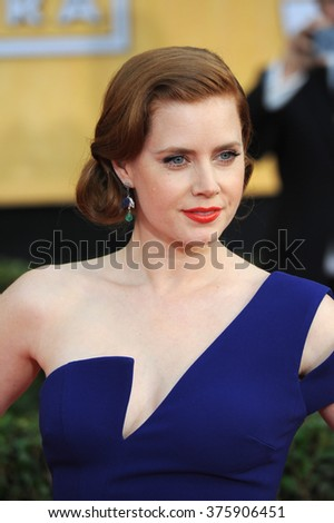 LOS ANGELES, CA - JANUARY 18, 2014: Amy Adams at the 20th Annual Screen Actors Guild Awards at the Shrine Auditorium.