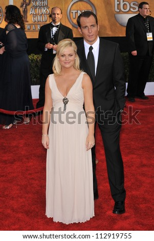 LOS ANGELES, CA - JANUARY 25, 2009: Amy Poehler & Will Arnett at the 15th Annual Screen Actors Guild Awards at the Shrine Auditorium, Los Angeles.