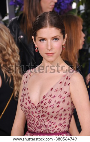 LOS ANGELES, CA - JANUARY 11, 2015: Anna Kendrick at the 72nd Annual Golden Globe Awards at the Beverly Hilton Hotel, Beverly Hills. - stock photo